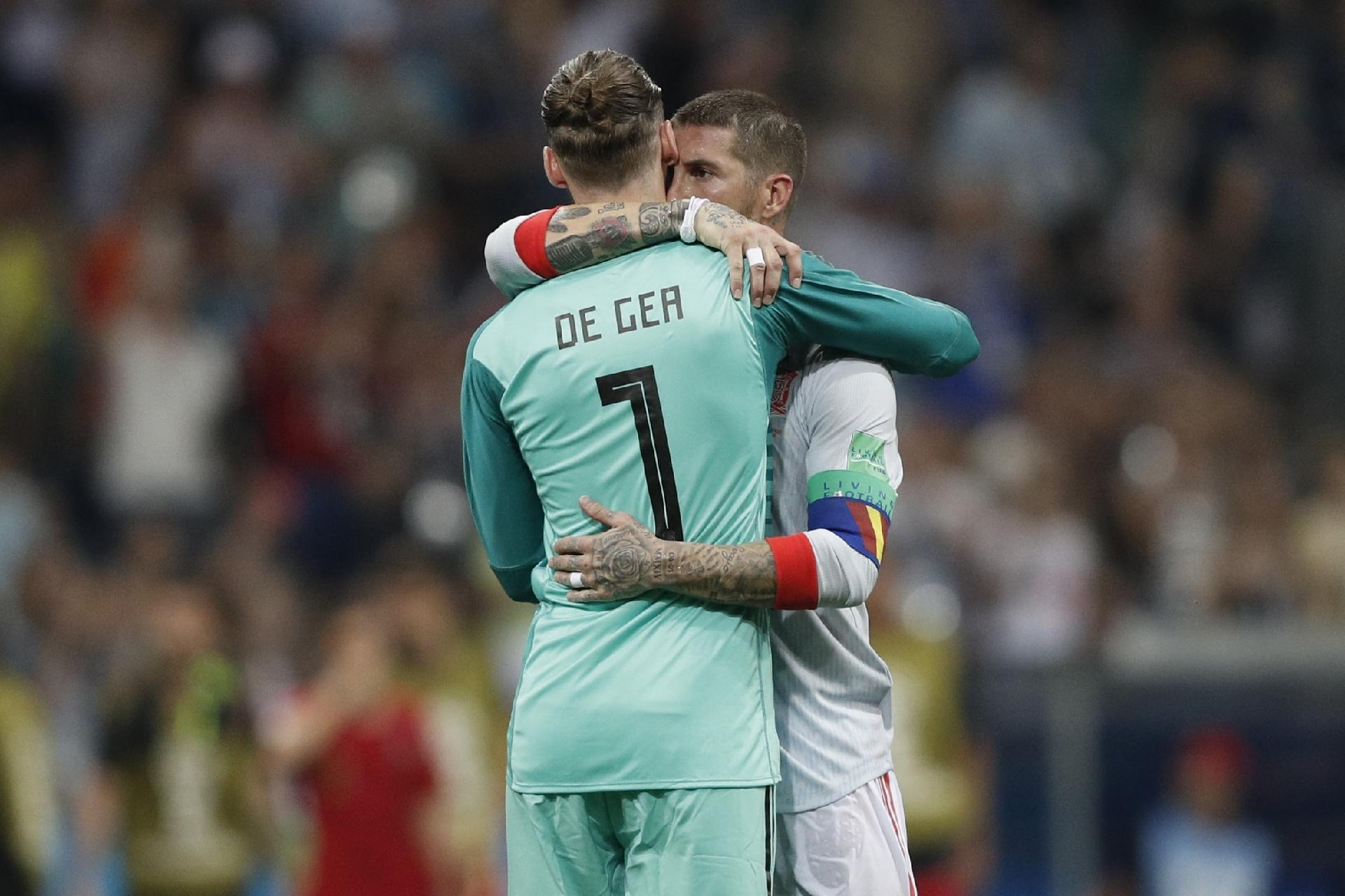 94423e5d3e98e Espanha na Copa 2018  Sergio Ramos sai em defesa de De Gea após falha  contra Portugal na estreia - UOL Copa do Mundo 2018