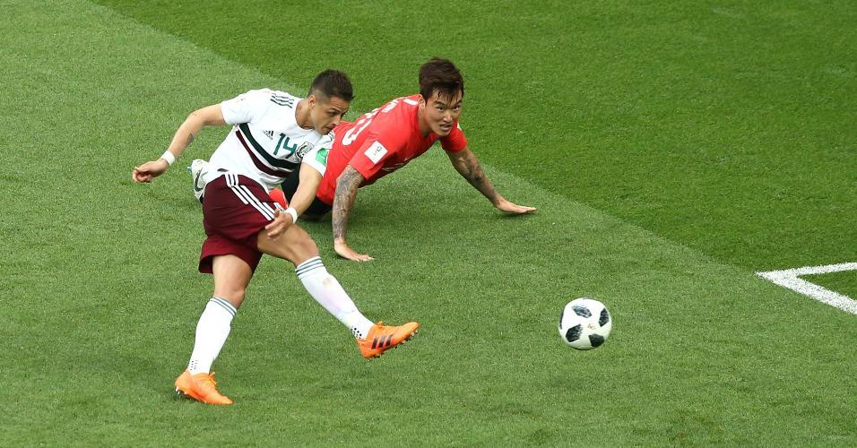 Chicharito Hernandez finaliza e marca contra Coreia do Sul