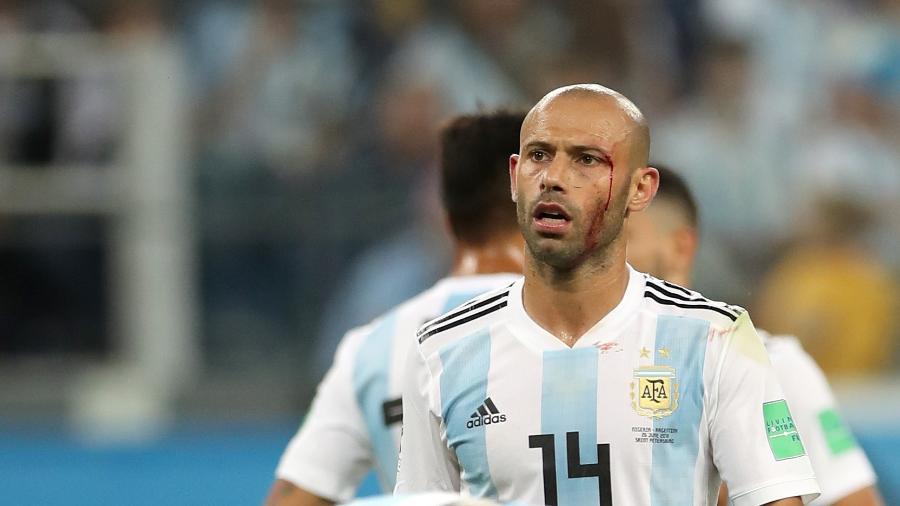 Mascherano, durante partida entre Argentina e Nigéria - Xinhua/Wu Zhuang