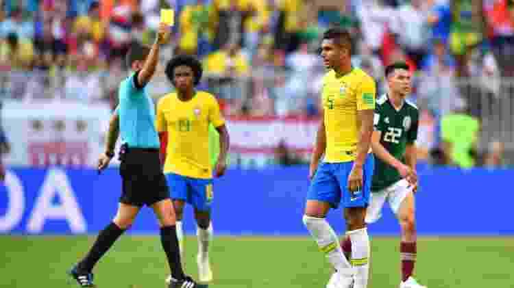 Casemiro recebe cartão amarelo e está suspenso em uma eventual quartas de final - REUTERS/Dylan Martinez - REUTERS/Dylan Martinez