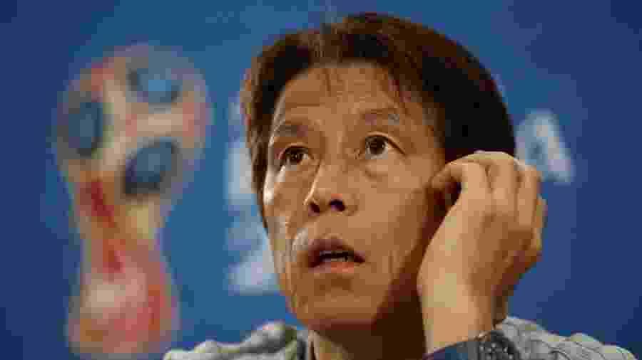 Akira Nishino, técnico do Japão, em entrevista coletiva - MARKO DJURICA/Reuters