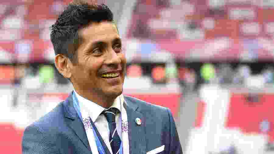 O ex-goleiro ídolo do México Jorge Campos, na Copa das Confederações - Michael Regan - 18.jun.2017/FIFA via Getty Images
