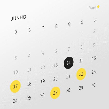 Detalhe de um calendário - Arte/UOL