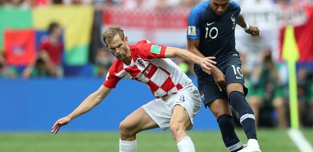 Strinic em ação pela Croácia na final da Copa do Mundo da Rússia - Carl Recine/Reuters