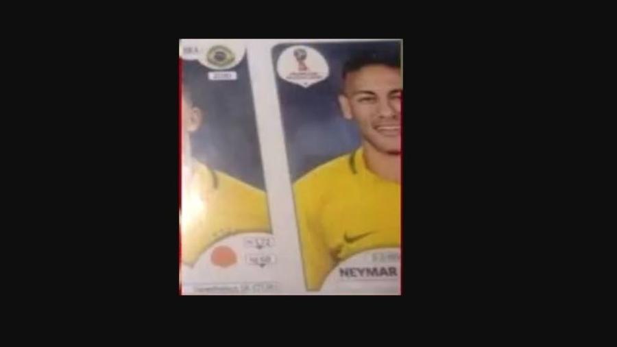 Suposta figurinha de Neymar do álbum da Copa de 2018 - Reprodução/Twitter