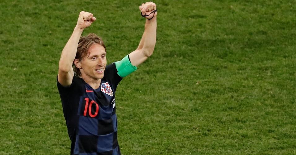 Luka Modric comemora vitória da Croácia sobre a Argentina na Copa do Mundo