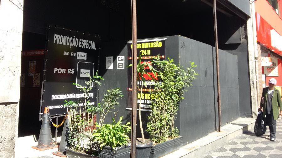 """""""Inferninho"""" no centro de São Paulo recebeu entusiastas da pornografia mesmo enquanto a seleção jogava - Daniel Lisboa/UOL"""