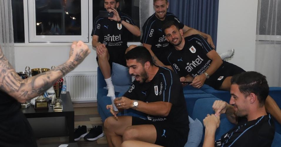Suárez grita truco Uruguai