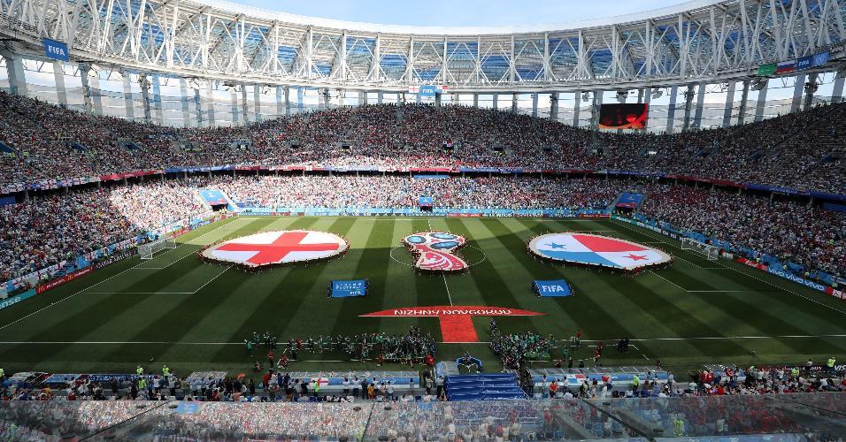 Estádio Nizhny Novgorod para o jogo entre Inglaterra e Panamá