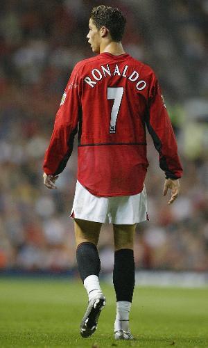 Cristiano Ronaldo em 2003, no Manchester United