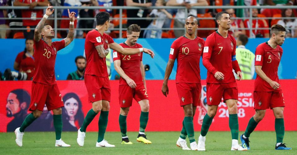 Quaresma comemora gol de Portugal contra o Irã na Copa do Mundo