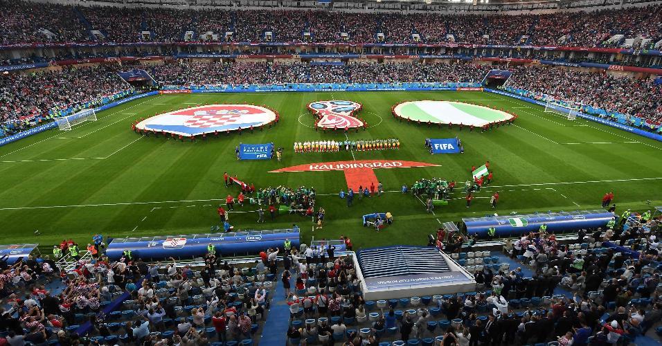 Estádio de Kaliningrado pronto para receber Croácia x Nigéria, pelo grupo D da Copa do Mundo