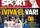 """Após anular gol do Irã, VAR ganha """"homenagem"""" de jornal espanhol - Reprodução/Sport"""
