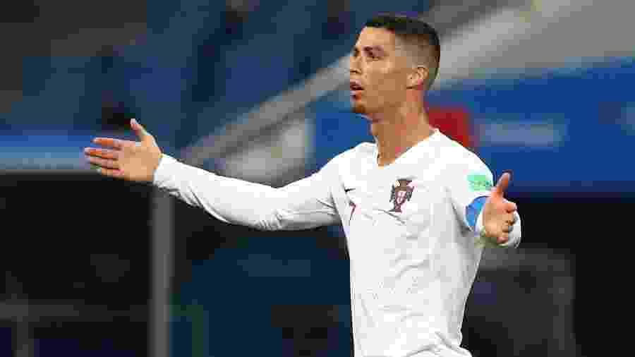 Olho no telão, reclamação e nada de gols: um retrato da atuação de Cristiano Ronaldo em sua despedida da Copa do Mundo - REUTERS/Hannah Mckay