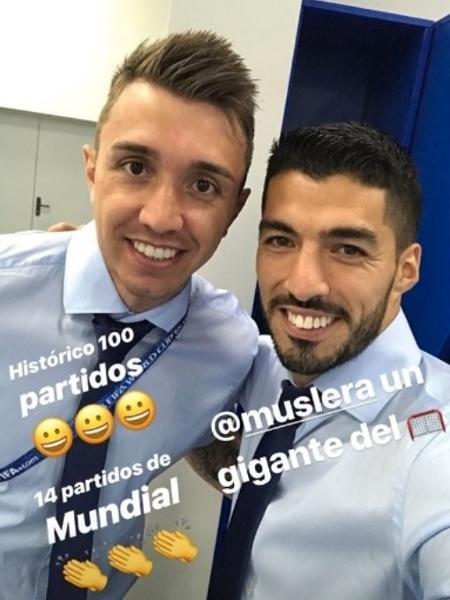 Goleiro atingiu marca em vitória sobre a Rússia pela Copa de 2018 - @luissuarez9/Instagram