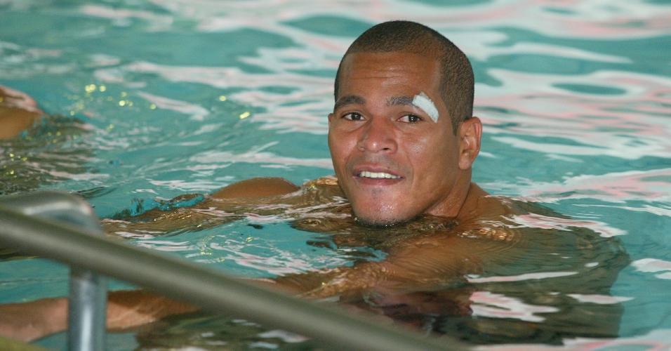 O atacante Aloísio Chulapa na época em que atuava pelo São Paulo