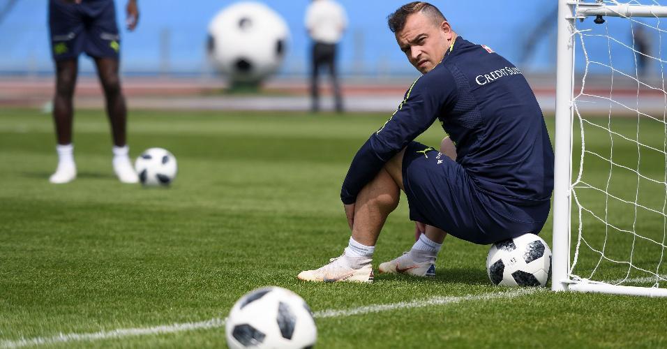 O meia Xherdan Shaqiri é o destaque da Suíça na Copa do Mundo da Rússia