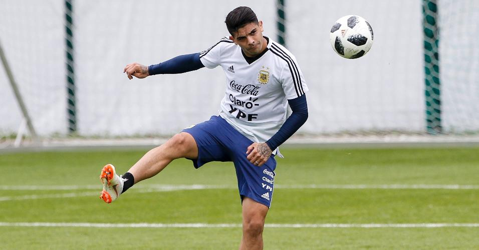 Ever Banega Argentina treino