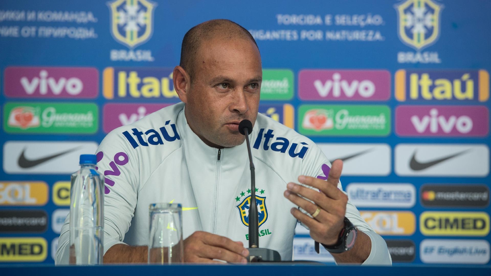 Rogério Maia, preparador de goleiros da seleção brasileira
