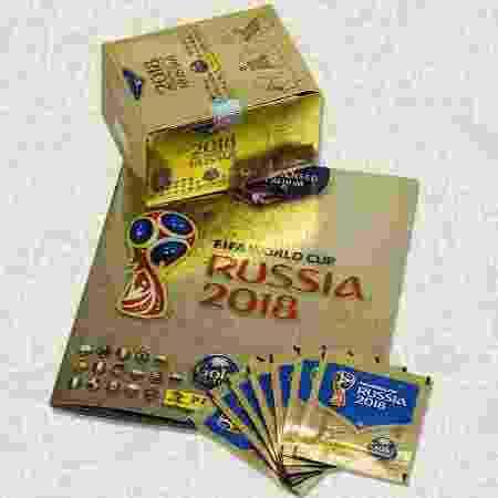 Álbum dourado da Copa do Mundo de 2018 - Panini/Divulgação - Panini/Divulgação