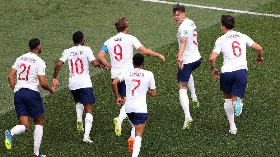 John Stones comemora gol na vitória da Inglaterra sobre o Panamá por 6 a 1 - REUTERS/Ivan Alvarado