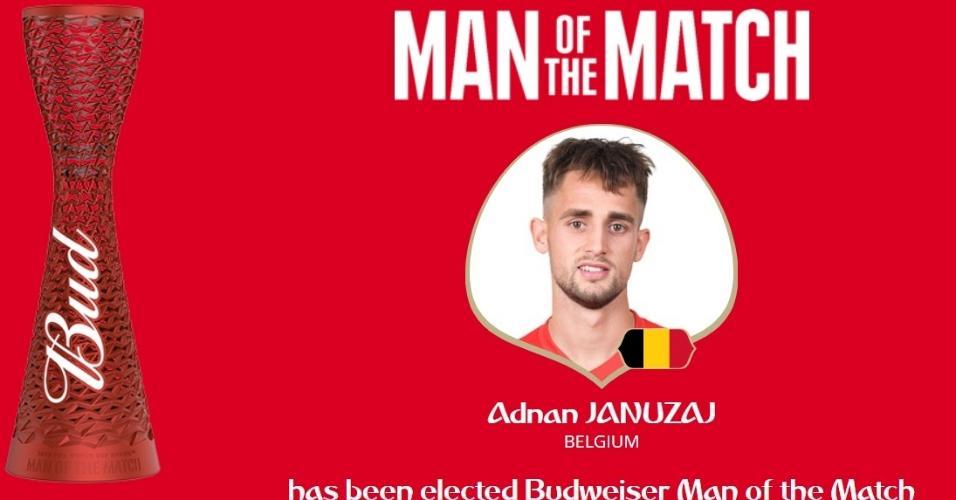 Autor do gol, Adnan Januzaj é eleito o