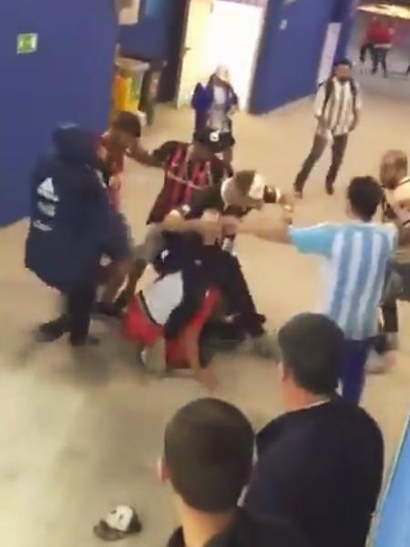 Argentinos e croatas brigaram no jogo de quinta-feira - Reprodução