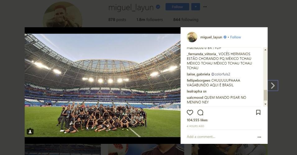 México Layun Instagram Copa do Mundo