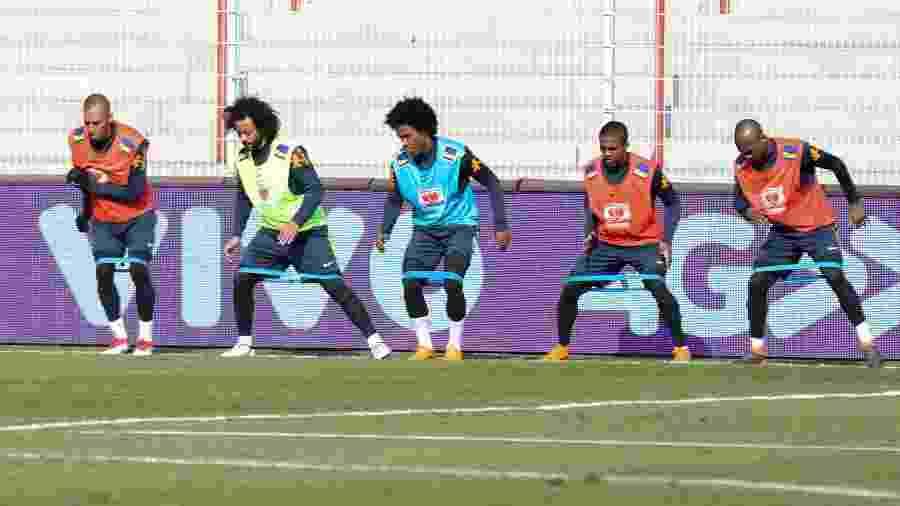 Jogadores da seleção brasileira em treino no Estádio An der Alten Försterei - Sandra Kelch/Divulgação