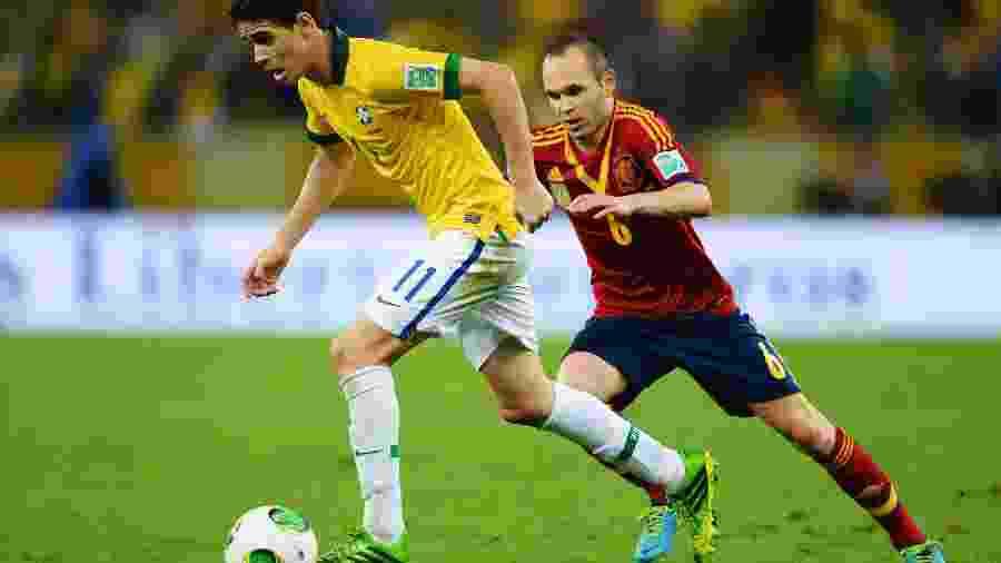 Oscar conquistou a Copa das Confederações de 2013 pela seleção brasileira - Laurence Griffiths/Getty Images
