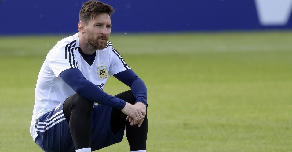 Lionel Messi bola treino Argentina