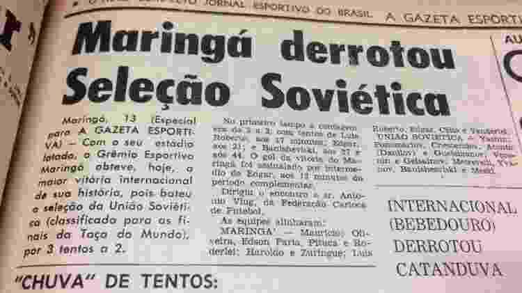 Maringá derrota seleção soviética - UOL - UOL
