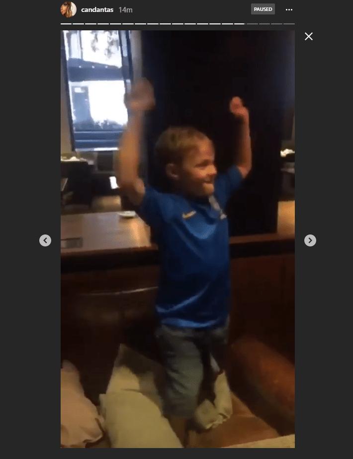 Davi Lucca, filho do Neymar, comemora gol do Brasil diante da Costa Rica