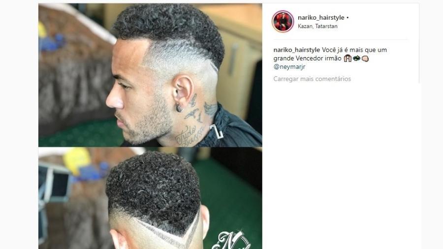 Neymar retoca o penteado antes de enfrentar a Bélgica  veja o resultado ae3ac335539
