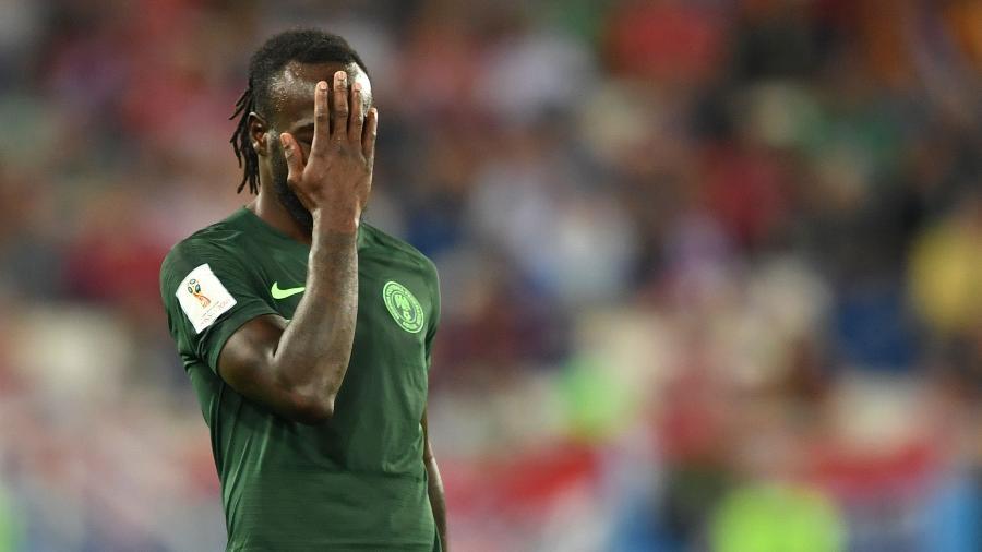 O ala Victor Moses durante a derrota da Nigéria para a Croácia por 2 a 0 - AFP PHOTO/OZAN KOSE