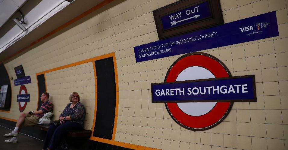 Estação de Londres homenageia técnico da Inglaterra e é nomeada como Gareth Southgate