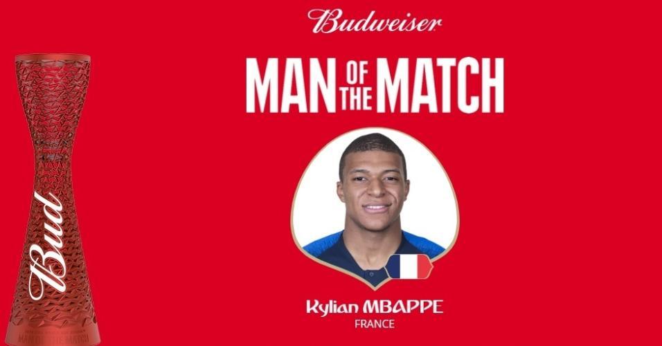 Kylian Mbappé, da França, foi eleito o