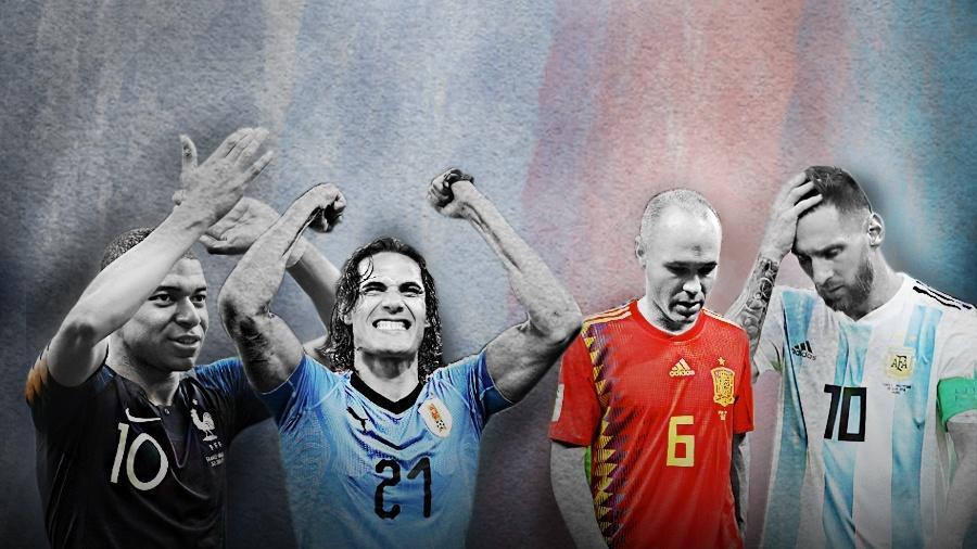 Eficiência e equilíbrio têm pesado mais nesta Copa do Mundo do que um jogo puramente de posse de bola - Arte/UOL