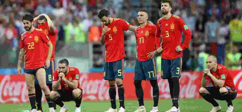 Espanha lamenta eliminação na Copa do Mundo para a Rússia, nas oitavas de final, nos pênaltis - Carl Recine/Reuters