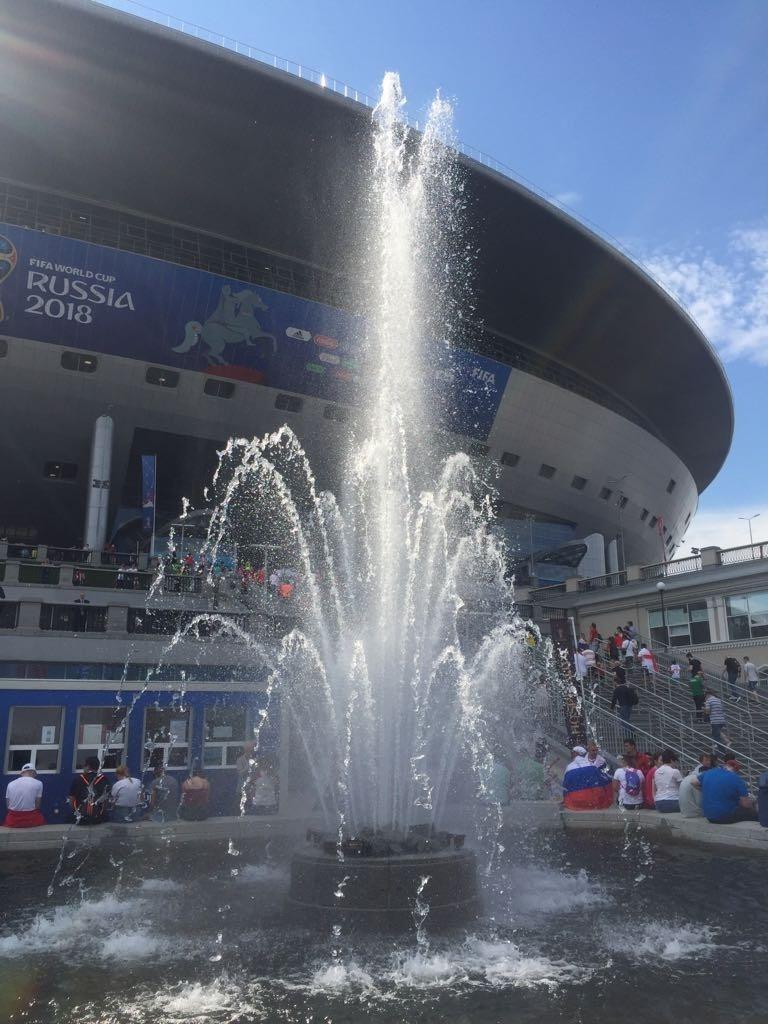 Estádio mais caro da Copa tem até chafariz na entrada