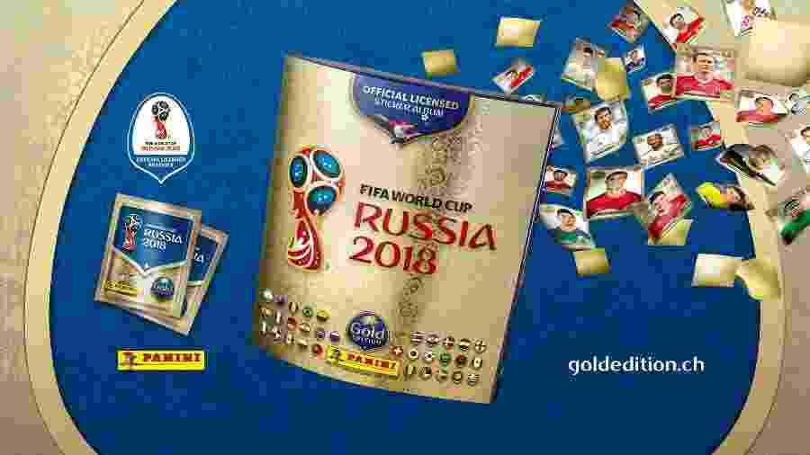 Álbum de ouro  da Copa 2018 só existe em um país e tem figurinhas inéditas 4edce5e0fa5ce