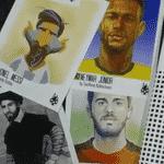 Desenhos de atletas como Neymar e Messi foram escolhidos por crianças - Reprodução