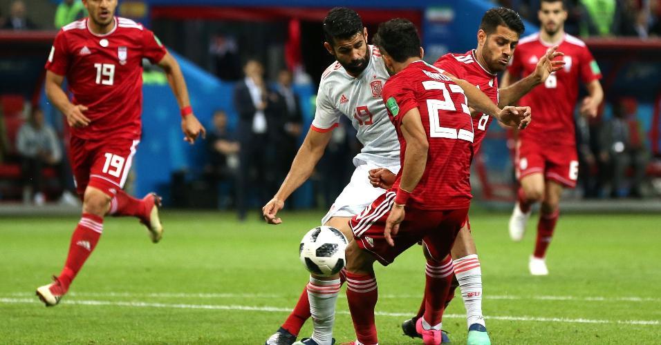 Gol de Diego Costa contra o Irã