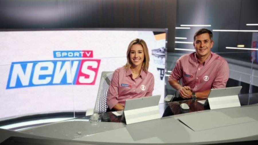 """Cris Dias e Ivan Moré, da Globo, estão apresentando o """"SporTV News"""" durante a Copa - Divulgação"""