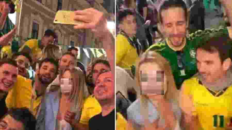 Mulher estrangeira é assediada por grupo de brasileiros na Rússia durante a Copa do Mundo 2018 - Reprodução