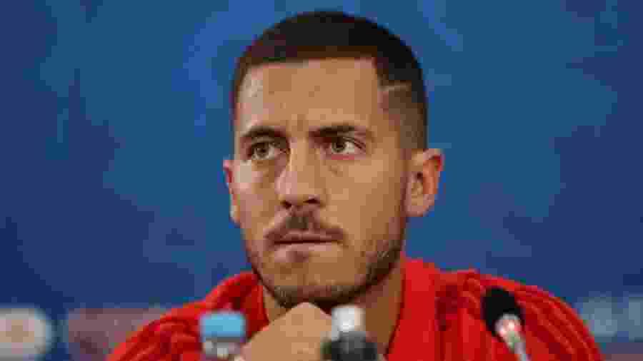Eden Hazard e coletiva de imprensa neste domingo (1) - MARKO DJURICA/REUTERS