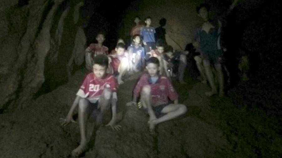 Meninos tailandeses foram resgatados de dentro de caverna após complexa operação  - Xinhua/Marina tailandesa