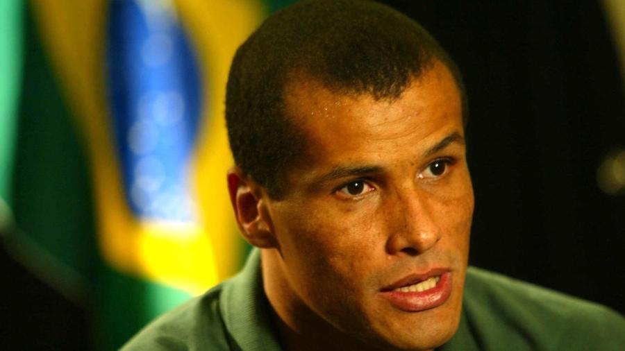 Rivaldo, meia da seleção brasileira, durante a Copa de 2002 - Juca Varella/Folhapress
