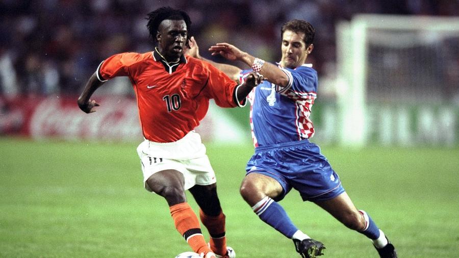 Clarence Seedorf era uma das estrelas da Holanda na Copa do Mundo-1998 - Shaun Botterill /Allsport