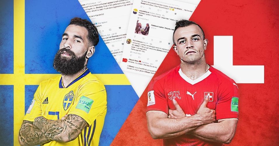 Durmaz e Shaqiri são os personagens do duelo das oitavas de final entre Suécia e Suíça